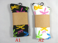 Cheap 24pcs=12pair Christmas Cotton FUCK IT multicolour men women coco tree plant Thicken Plantlife Skateboarding Sport Socks 12pairs lot