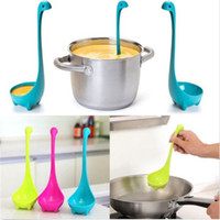 Wholesale Nessie Soup Ladle Loch Ness Monster Design Upright Scotland Spoon Kitchen pc