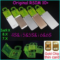 Wholesale Original RSIM rsim R sim thin card unlock card for iphone s plus s s IOS7 X ios9 X WCDMA GSM CDMA AT T T mobile Sprint
