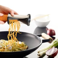 Wholesale Hot Fashionable Vegetable Spiral Slicer Fruit Cutter Peeler Spiralizer Twister Kitchen Stainless Steel Plastic Tool Convenient To Use