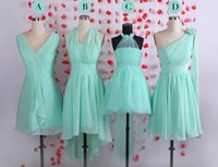 red and black bridesmaid dresses - 2015 Spring Simple Cheap Mint Short Chiffon Bridesmaid Dresses Wedding Party Guest Dress Junior Bridesmaids Gowns Multiple Style And Color