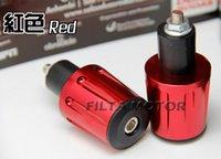 Wholesale 2 Pieces Gold Tone Aluminum Alloy Handle Plug Hand Brake Lever Cover Protectors Handlebar high quality