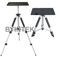 tripod screen - Universal projection screen projector aluminium table tripod stand tray for projector laptop camera DV