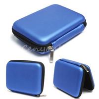 Livraison gratuite bleu Valise de transport Housse pour disque dur USB 2.5 externe WD disque dur Protéger Protector enveloppe de sac