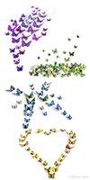 Wholesale Hot Sales Decorative D Butterfly Wall Stickers As a Set Sticker Art DIY Decal Home Room Decor Butterflies TX267