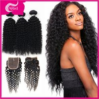 Cheap Mongolian Kinky Curly Hair With Closure Virgin Hair Bundles With Lace Closures 3 Bundles Human Hair With Closure Very Soft