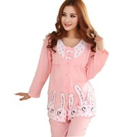 Wholesale Clothes for pregnant women nursing clothes maternity full sleeve lounge cotton sleepwear AP130