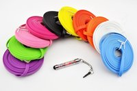 Wholesale New M M M Pin Colorful Noodle Flat Data USB Charging Cords Charger Cable Wire for Cell Phone FT FT FT Line