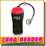 Wholesale whistle USB T flash memory card reader TF card micro SD card reader Adapter GB GB gb GB DHL