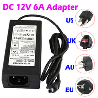 Wholesale AC DC V A LED Power Supply Charger Transformer Adapter For RGB LED Strip EU US AU UK Cord Plug Socket