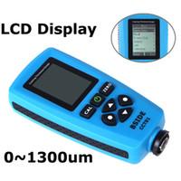 Wholesale Digital Paint Coating thickness gauge Meter um F mils um Resolution Graphical Menu USB Auto F FN Probe Tester