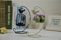Wholesale latest new classic Europe butterfly and birds metal candle holder as home decoration