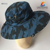 Wholesale 2015 New Arrival Outdoor Bucket Hat Bonnie Hunting Fishing Outdoor Cap Wide Brim Military Bonnie Hats HW035