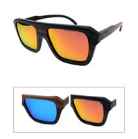 wood mirror - Black Ebony Wood Sunglasses Outdoor Eyewear Driving wooden Glasses Wholesales Hot Sales Polarized Mirror Lens in