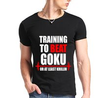 beat man - New Fashion The Dragon Ball Z T Shirt Training To Beat Goku Krillin Cotton Casual Fashion T shirt Tee Camiseta Clothing
