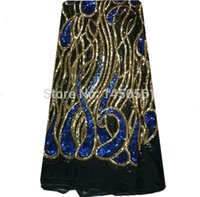 african textile patterns - AP16 Popular Special Pattern Swiss Organza Lace African Net Materials Textiles Lace Fabric Factory Price Royalblue Gold