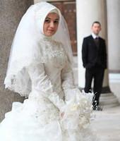 arabic headwear - Elegant New Muslim Bridal Veils Long Crystals Headwear Arabic Dubai kaftan Islamic headpiece Luxury Bling hijab Wedding Accessories