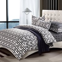 Wholesale Drop Ship Bedding Set in Full Queen King Size Duvet Cover Bed Sheet Sets Classic Black and White Home Textile