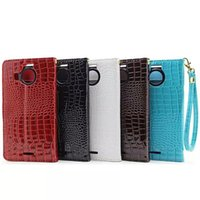 aligator leather - For HUAWEI P9 Lite Nokia Lumia XL Sony Ericsson Xperia Z5 Plus Wallet Leather Case Crocodile Pouch Stand ID Card Rope Aligator skin Cover