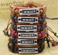 bracelets wholesale cheap bangles - Fashion Handmade Cheap Price Leather Braided Bracelets and Bangles mens bracelets women jewelry wwjD