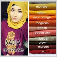 hijab - 10pcs mixed plain hijab scarf fashion muslim hijabs viscose voile islam head wraps women foulard maxi shawl scarves bandana