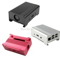 Wholesale Geekworm Metal Box Aluminum Alloy Enclosure Case Box Shell for Raspberry Pi Model B Raspberry PI B
