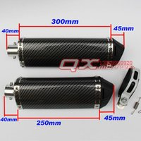 Wholesale Cqr off road motorcycle refit of the exhaust pipe carbon fiber silent tampion back end of muffler motorcycle parts free