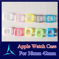 Wholesale Watch Case For Apple Watch Protector Transparent Glossy Soft Silicone TPU Protect Case For Apple Watch mm mm With OPP Package