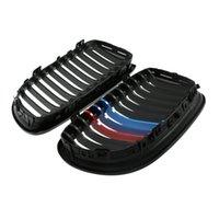 Wholesale 1Pair Front Matte Black Mix color Car Grille Grilles for BMW E90 ABS Car Accessories