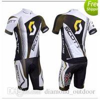 Wholesale Factory Selling NEW SCOTT Short Sleeve Cycling Jersey and Cycling Bib Shorts Kit SCOTT Cycling Clothing Set SIZE XS XXXXL