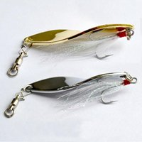 Spinner wholesale lure - Fishing Spoon Lures g g g cm spinner and spoon silver Spinner Hard Bait Spoons