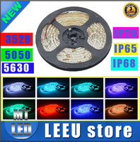 Wholesale SMD IP65 IP68 IP20 Led Strips Light Warm Pure White Red Green RGB Flexible M Roll Leds V outdoor Ribbon for Christmas