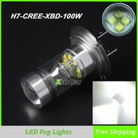 Venta caliente del CREE Auto Car XBD 100W 1000LM H7 LED de conducción diurna luces de circulación diurna DRL luz de niebla del bulbo de alta potencia lámpara de la niebla blanca 6000K