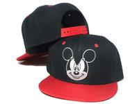 Wholesale Black red Mickey Mouse Kids Cartoon Snapback Caps Donald Duck child baseball cap childrens hats Cute batman hat DD
