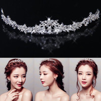 Wholesale 6pcs Sparkly Crystal Rhinestone Crown Tiara Wedding Prom Bride s Headband wedding hair band Bridesmaid Women Accessories Gift JH03054