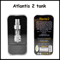Wholesale Atlantis II clone atomizer Type ml capacity Ohm Ohm Coil Tank V2 Clearomizer With High Quality by DHL free