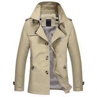 Wholesale Autumn men s casual slim fit jacket long fashion boy s big yards men s cotton Outerwear Coats