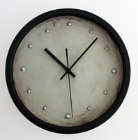 atmosphere art - Continental simple atmosphere retro D three dimensional metal nails when the wall clock fashion creative arts wall wall clocks