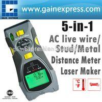 Wholesale Portable Multifunction in1 Digital Distance Meter Stud Joists Metal Wire Detector Laser Marker Tool m inch Range