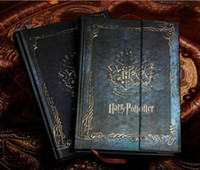 Wholesale 100pc New Harry Potter Vintage Notebook Diary Book Hard Cover Note Book Notepad Agenda Planner Gift calendar free ship