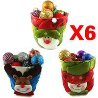 basket tree gifts - New Lucky Santa Snowman Cute Deer Figures Christmas Stocking Basket Chrismas Decoration amp Gifts