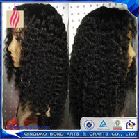 human hair afro wigs - Afro Kinky Curly Human Hair Lace Front Wig Glueless Full Lace Wig with baby hair for Black Women