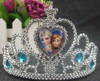 Wholesale 2015 Anna Elsa Princess Tiara Crown Hair Band For Children Froze Girl Mix Models New Kids Hair Accessories Fashion Girls Party Gifts L0863