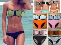 Cheap Tankinis Set women's swimwear Best Nylon Solid women bikinis