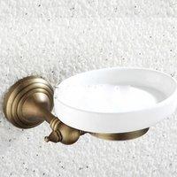 Wholesale All Copper Soap Dish Soap Net Soap Box Continental golden Dish Soap whole European copper antique bathroom Soap Dish