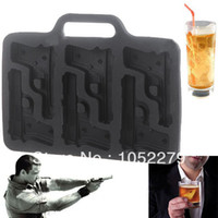 Wholesale Unique Novelty Pistol Shaped Ice Cube Trays Mould Cool Jewels for Your Summer Assorted Color HLI