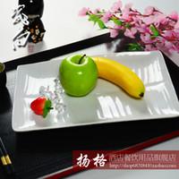 banana dishes - Quality porcelain banana leaf square plate japanese style tableware sushi mug up long plate rice rolls dish