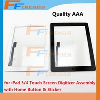 Wholesale for iPad Touch Screen Digitizer Assembly with Home Button and Stickers Replacement Repair Parts Glass Touch Panel Black White