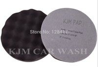 Wholesale K533 8 quot inch M mateira Wave Type finishing Pad for Car Buffing Polish Waxing Wax Soft Finishing Foam Pad
