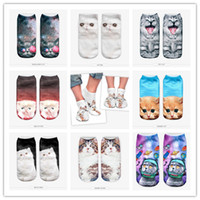 animals maine - D Printed Casual Charactor Socks Unisex Low Cut Ankle Multiple Colors Harajuku Style Space Cats Galaxy Cute animals maine coon